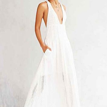 The Jetset Diaries North Of Fira Maxi Dress- White