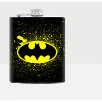 Batman Flask-Hip flask-Black-Stainless Steel Flask-7oz-Urban-Liqour-Cocktail-Drinks-Flask-21birthday-Alcohol-Whiskey-Bar