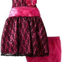 Children's Apparel Network Baby Girls' 2 Piece Woven Dress and Panty, Pink, 24 Months