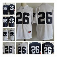Mens Penn State Nittany Lions #26 Saquon Barkley No Name Navy Blue White College Football Stitched NCAA cheap Jerseys Adult size S,3XL