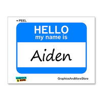 Aiden Hello My Name Is Sticker