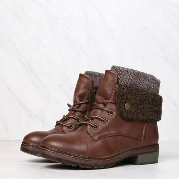 Chinese Laundry - Bring Leather Knit Sweater Cuff Ankle Boots in More Colors