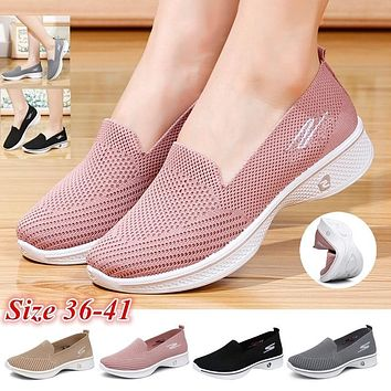 Women Fashion Shoes Flats Breathable Loafers Casual sports shoes Walking Shoes Yoga Shoes