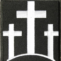 Three Crosses Embroidered iron on patch