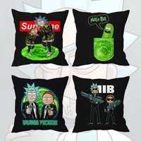 """16"""" Rick and Morty Pickle Rick Wubba Fiction Grimes Pillow Case Cover Dakimakura Cushion Bedding Home Decor Cosplay Costume Gift"""