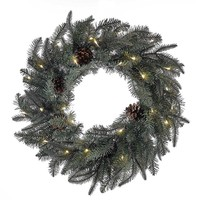Kurt Adler 24-Inch Battery-Operated Blue and Green LED Wreath