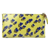 Gucci Ladies Yellow Leather Large Heartbeat Pouch Clutch Bag 338815 7309