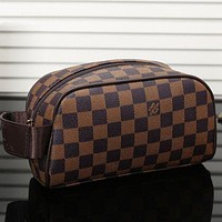 LV Louis Vuitton Women Fashion Shopping Cosmetic Bag Leather Handbag Satchel