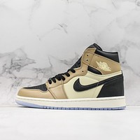 Air Jordan 1 High Premium Fossil Sneaker