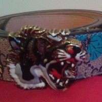 gucci belt men tiger