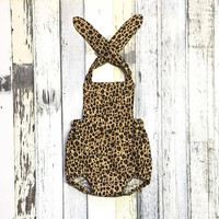My Little Leopard - Infant/Toddler Girl Romper