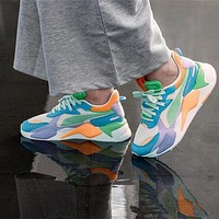 PUMA RS-X Toys Retro Macaron Stripe Thick-soled Daddy Shoes