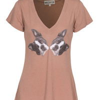 WILDFOX  Boston Terrier Choco Martini Baumwoll-T-Shirt mit Print - What's new