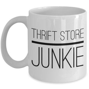 Thrift Store Junkie Coffee Mug - Boho Gifts - Vintage Style Coffee Mugs - Boho Chic Decor
