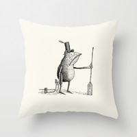 'Shore Leave' Throw Pillow by Alex G Griffiths