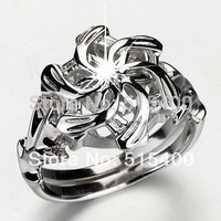 Size 8 Galadriel Nenya Water Ring Classic &  Elegant Style Jewelry Good Collection for Cos-play CMR-19032