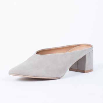 Easy Suede V-Cut Mules