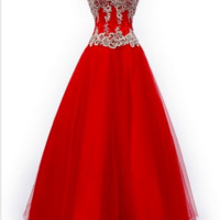 KC131546 Red Prom Ballgown Dress by Kari Chang Couture