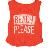 Beach Please Tank - Red