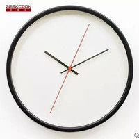 Creative Metal Living Room Quiet Bedroom Clock [4918289220]