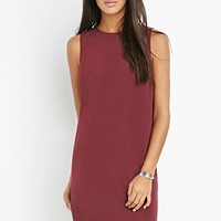 Strapped V-Back Shift Dress