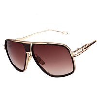 Big Metal Square  Sunglasses Glasses Driving UV400