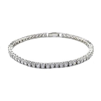 Flossily Round CZ Tennis Bracelet – 7in | 10ct