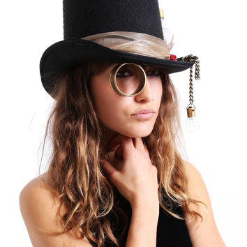 Steampunk Monical Top Hat