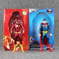 18cm 2styles The Avengers Superhero The Flash Barry Allen & Superman PVC Action Figure Collection Model Toy Gift for Kids