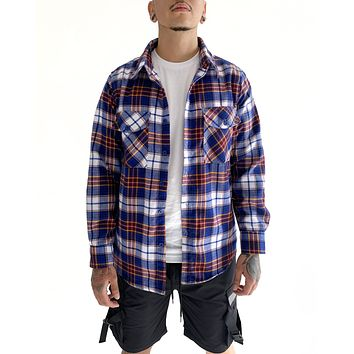 Vintage Flannel (Blue and Red)