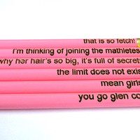 Laser Engraved Pencils - Set of Six - Mean Girls Collection 1