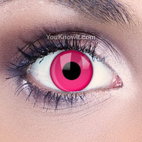 Funky Eyes Pink UV Contact Lenses   Coloured Contact Lenses