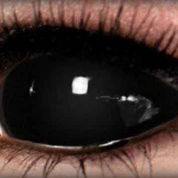 Black Sclera Contacts - Halloween Contacts | ExtremeSFX by ExtremeSFX
