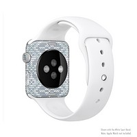 The Knitted Snowflake Fabric Pattern Full-Body Skin Set for the Apple Watch