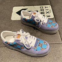 LV Louis Vuitton two-tone lace-up summer new casual sports shoes breathable all-match sneakers Shoes Purple