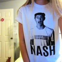 Nash Grier MagCon Screen Print Tee Vine White Short Sleeved TShirt Unisex Adult Size Small, Medium, Large and XLarge