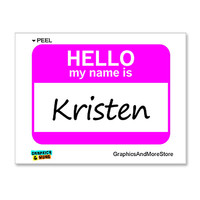 Kristen Hello My Name Is Sticker