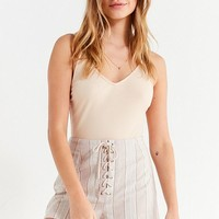 UO Tess Striped Lace-Up Short   Urban Outfitters Canada