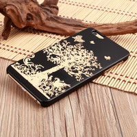 Butterfly Tree Ultra Thin 100% Natural Wood Phone Case For iPhone 7 7Plus 6 6s Plus 5 5s SE