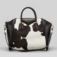Givenchy Antigona Medium Cow-Print Calf Hair Satchel