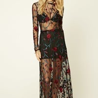 Floral Embroidered Maxi Skirt