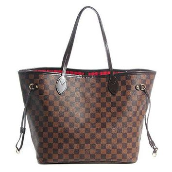 Neverfull Style Canvas Woman Organizer Handbag Damier Tote Shoulder Fashion Bag MM Size by LAMB