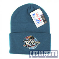 Blue Detroit Pistons Beanie | F as in Frank Vintage Clothing