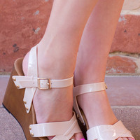 Terese Jelly Wedges - Nude