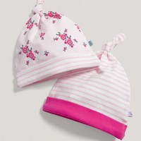 Girls Two Pack Of Patterned Hats