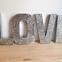 Mini Sequin LOVE Letters for Wedding or Decor by twistedtwig