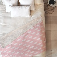Allyson Johnson Dainty Blush Fleece Throw Blanket