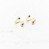 Twisted Openball Earrings in Gold - Urban Outfitters