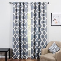 Modern Quatrefoil Pattern Blackout Curtains for Living Room the Bedroom Window Shades Blinds Black out Custom Curtains Panel