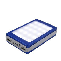 Outdoor LED lights 12000 mah Solar Charger Battery 12000mAh Solar Panel Dual Charging Ports portable power bank for Cell Phone